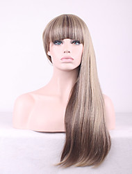 Cosplay Long Hair Wigs For Women High Quality Cheap Straight Wig Synthetic Wigs Ombre Gradient Heat