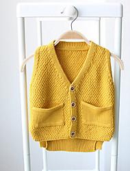 Mädchen Pullover & Cardigan-Lässig/Alltäglich einfarbig Baumwolle Winter Beige