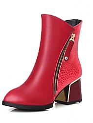 Feminino-Botas-Saltos / Coturno / Inovador / Botas de Cowboy / Botas de Neve / Botas Cano Curto / Bico Fino / Botas Montaria / Botas da