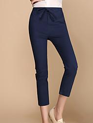 Pantalon Aux femmes Harem / Chino / Mince simple / Mignon / Actif Lin Non Elastique