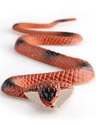 Soft Rubber Fake Snake Vinyl Figure Plastic Prank Brown Joke Toys