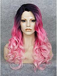 Spitze-Perücke Perücken für Frauen Rosa Kostüm Perücken Cosplay Perücken