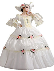 One-Piece/Dress Gothic Lolita / Sweet Lolita / Classic/Traditional Lolita / Punk Lolita Steampunk® Cosplay Lolita Dress White Floral