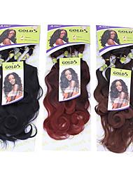1pc nobles ors s-exquoise 5pcs 14161820closure extensions de cheveux synthétiques