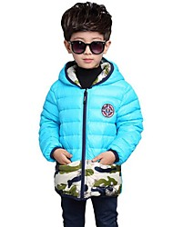 Boy's Casual/Daily Print Down & Cotton PaddedPolyester Winter Black / Blue / Green / Orange / Red / Yellow