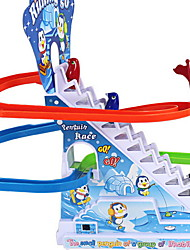 Children's Educational Toys Electric Penguins Climb Stairs Assembly Track Magnetic Music Fun Toys