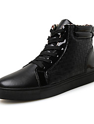 Men's Shoes EU39-46 Fashion Microfiber Medium cut Sneakers Board Shoes Woven Boots Plus Size