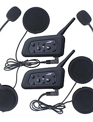 2pcs Multi BT Interphone 1200M Motorcycle Helmet Intercom Intercomunicador Moto Interfones Headset For 6 Rider