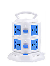 Vertical Creative Outlet Power Strip Stereo Plug Strip Mine Intelligent Multifunction Switch Rubik's Cube