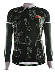 Sports® Cycling Jersey Men's Long Sleeve Breathable / Thermal / Warm / Front Zipper / Wearable / Ultra Light Fabric Bike TopsCoolmax /