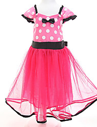 Girl's Casual/Daily Polka Dot DressPolyester Summer Pink