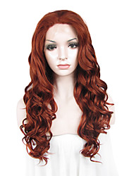 IMSTYLE 24Auburn Popular Long Wave Synthetic Wig Lace Front
