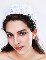 Women's Lace / Tulle / Imitation Pearl / Acrylic Headpiece-Wedding / Special Occasion Flowers 1 Piece