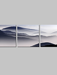 Stretched Canvas Print Art Landscape Mountain Set of 3