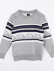 Girl's Casual/Daily Color Block Sweater & CardiganCotton Fall Gray