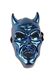 Halloween Props Monster Festival/Holiday Halloween Costumes Blue Red Patchwork Print Mask Halloween Unisex Engineering Plastic