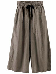 Women's Solid Blue Loose Pants,Street chic