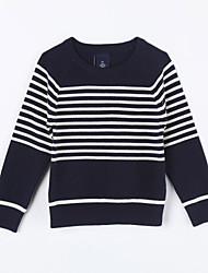 Mädchen Pullover & Cardigan-Lässig/Alltäglich Gestreift Baumwolle Herbst Blau