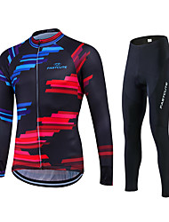 Fastcute Cycling Jersey with Tights Men's Women's Unisex Long Sleeves Bike Pants/Trousers/Overtrousers Tracksuit Jersey Tights Tops