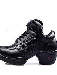 Homme-Extérieure / Décontracté-Noir-Talon Plat-Bout Fermé-Sneakers-Cuir