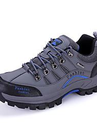 Men's Sneakers Spring / Fall Comfort / Round Toe PU Outdoor Flat Heel  / Lace-up Brown / Gray / Khaki Hik