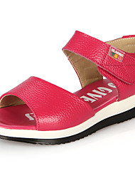 Girl's Sandals Summer Leather Casual Flat Heel Others Pink White Fuchsia Others