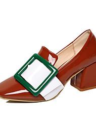 Women's Boots Fall / Winter Comfort Leather Outdoor / Casual Low Heel Buckle Black / Brown Walking