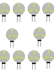 10pcs g4 6smd 5730 150-200lm 1.5w caliente blanco / whiteled bi-pin luces dc12v