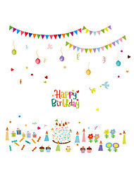Wall Stickers Wall Decals Style Birthday Cake PVC Wall Stickers
