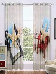 Two Panels Modern Nature & Landscapes Distinctive Living Room Polyester Sheer Curtains Shades 140cm Per Panel