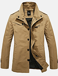 Autumn and winter in the long section of the new cotton washed jacket casual jacket lapel