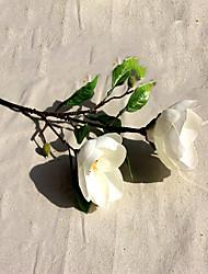 1 1 Rama Poliéster Orquídea Flor de Mesa Flores Artificiales 42CM