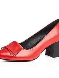 Homme-Extérieure-Noir / Rouge / Beige-Gros Talon-Talons-Chaussures à Talons-Cuir