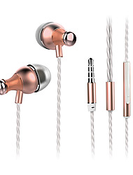ESONG Q11 In-Ear Earphone Diamond Heavy bass Surround sound Metal headphone with Microphone for iPhone