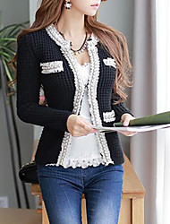 Dabuwawa Women's Fashion Crochet Collar  Knit Cardigan