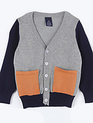 Boy's Casual/Daily Color Block Sweater & CardiganCotton Fall Gray