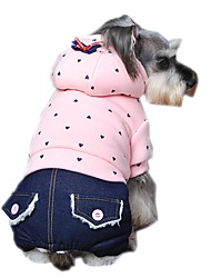 Lovely Anchor Printing Jumpsuits with Jeans and Hoodie   for Pets Dogs (Assorted Sizes and Colours)