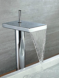 Contemporain Vasque Cascade with  Valve en céramique Mitigeur un trou for  Chromé , Robinet lavabo