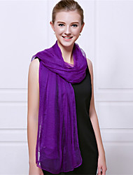 Women Summer Casual Chiffon Rectangle Solid Color Fresh Chiffon Silk Beach Towels Scarf Shawl