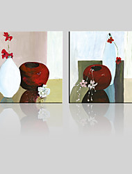 JAMMORY Canvas Set Landscape ,Two Panels Gallery Wrapped, Ready To Hang Vertical Print No Frame Simple Vase