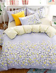 bedtoppings cachecol 4pcs duvet cover quilt definir o tamanho da rainha folha plana folha fronha impressões microfibra