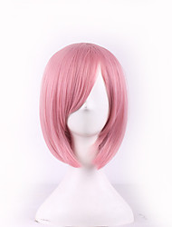Cosplay Pink Color Fashion Wigs Japanese Anime Halloween Hairstyle Girl Wigs