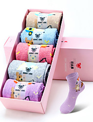 DOBLE LIONS® Mujer Lana Calcetines 5 / caja-WM7037
