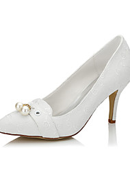 Women's Heels  Closed Toe Silk Wedding / Party & Evening / Dress Stiletto Heel