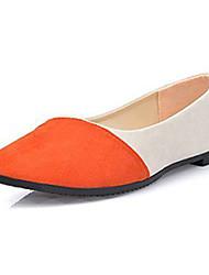 Women's Flats Summer Comfort Fleece Casual Flat Heel Split Joint Black / Blue / Fuchsia / Orange Others