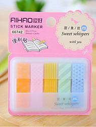 Box Package 5-Color Self-stick Note Set