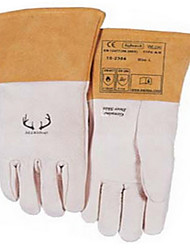 wei Teshi 10-2304 casca branca de trabalho luva veados soldagem luvas em canteiros de obras tamanho 10