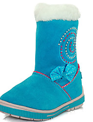 Mädchen-Stiefel-Outddor Lässig-Baumwolle-Flacher Absatz-Schneestiefel Modische Stiefel-Blau Rot