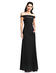 2017 TS Couture® Formal Evening Dress Sheath / Column Off-the-shoulder Floor-length Chiffon with
