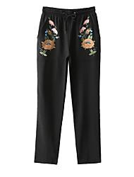Pantalon Aux femmes Slim Chinoiserie Coton Non Elastique